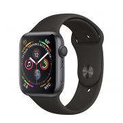 Watch Series 4 Aluminum Cellular (44mm), Space Gray, Black Sport Band