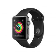 Watch Series 3 Aluminum (42mm), Space Gray, Black Sport Band